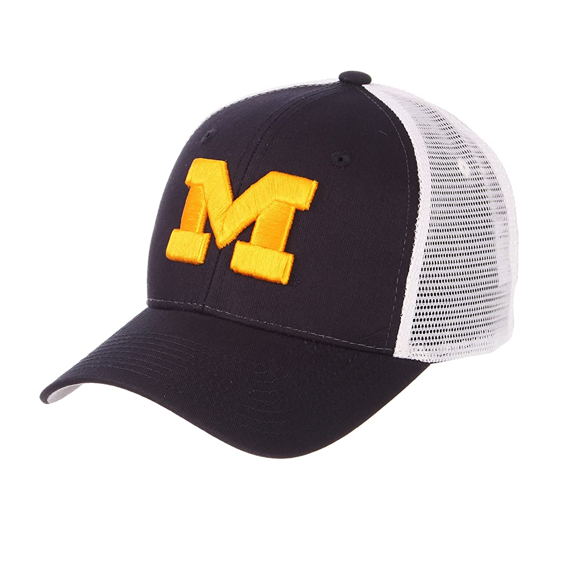 Zephyr University of Michigan Wolverines Big Blue Big Rig Best Mesh Trucker Mens/Womens/Boys Adjustable Cap/Hat