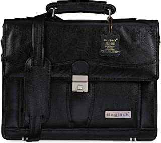 BAG JACK - Sleek and Structured | VELPECULA | Handcrafted | Natural Grain Leather | Men Office Bag | Leather Laptop Bag | ...