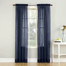 Best navy blue voile curtains Reviews
