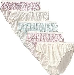 Women's 5-Pack Cotton Lace Effects Hi-Cut Panty