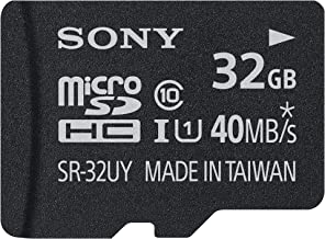 Sony 32GB Class 10 Micro SDHC R40 Memory Card (SR32UYA/TQMN) (OLD MODEL)