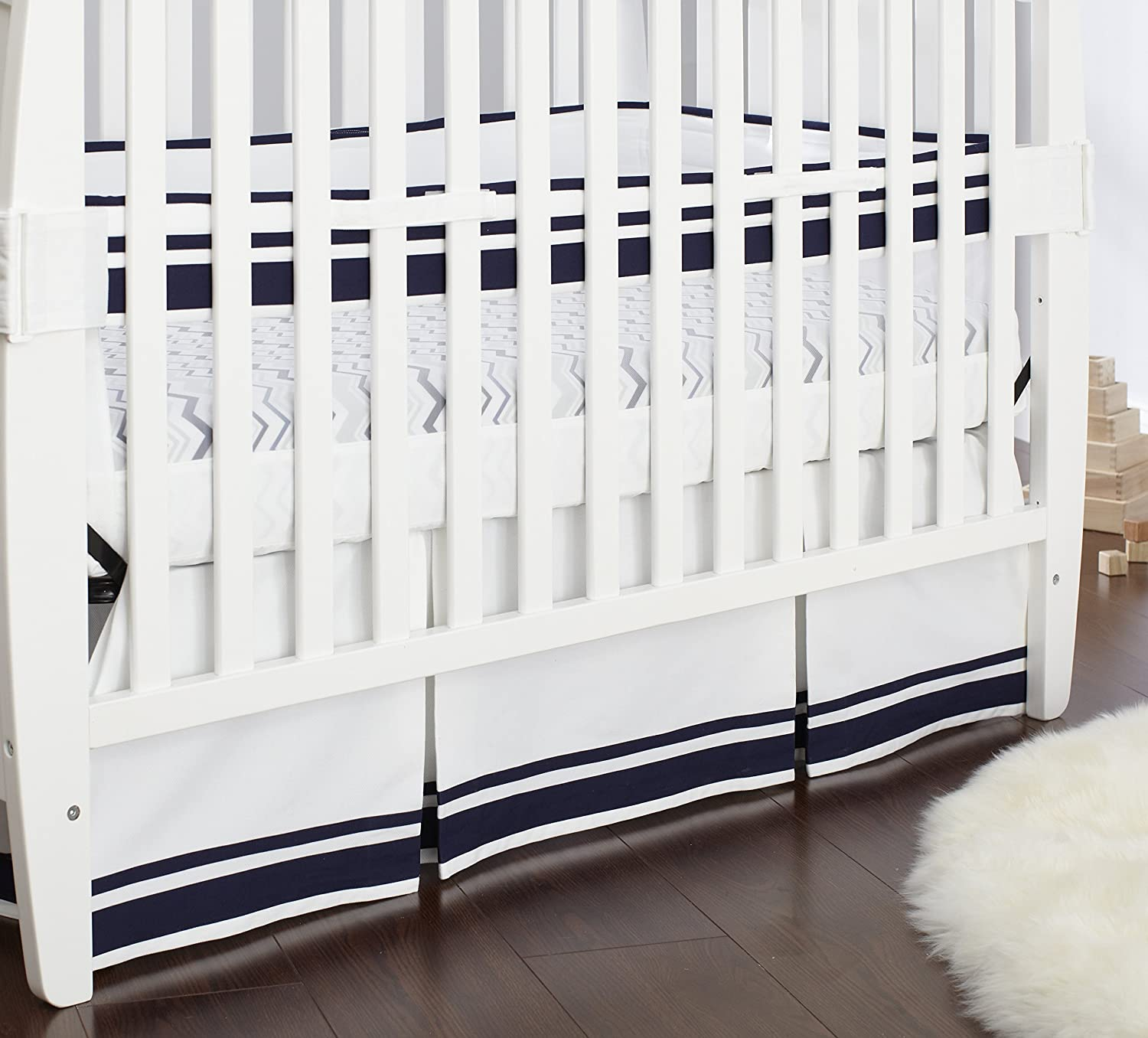 Tribgold Just Born Fresh Air Crib Liner - Navy