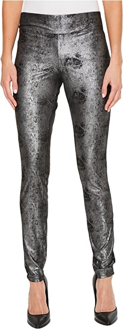 HUE - Metallic Microsuede Leggings