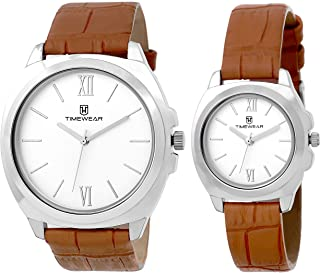 Timewear Analog Silver dial Couple Watch - 907SDTCOUPLE