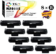 8-Pack (8xBlack) Compatible 111S MLT-D111S Toner Cartridge, Use in Samsung Xpress M2020, M2070 Printer, Sold by TG Imaging