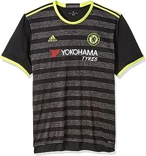 adidas International Soccer Chelsea Men's Jersey, Large, Black/Yellow/Granite