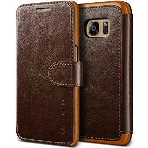 new styles 78e07 1c9a6 Samsung Galaxy S7 Leather Wallet Case: Amazon.com