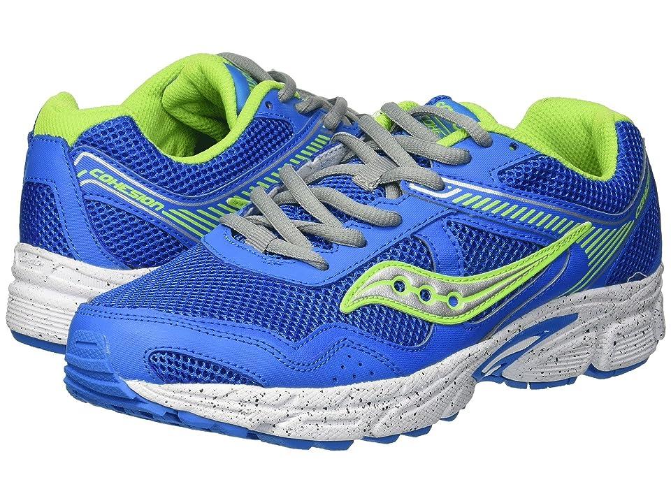 Saucony Kids Cohesion 10 LTT (Big Kid) (Grey/Blue/Green) Boys Shoes