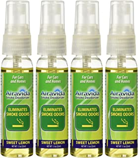 Airavida Smoke Smell Be Gone Eliminates Tobacco Cigar and Cigarette Smells 4 Pack (4)