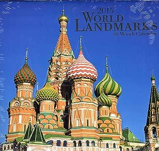 World Landmarks - 2015 16 Month Calendar + Free Bonus 2015 Magnetic Calendar