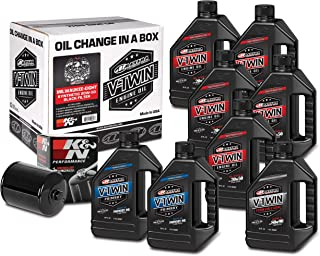 Maxima Racing Oils 90-129018B Milwaukee-Eight Synthetic 20W-50 Black Filter Complete Oil Change Kit, 256. Fluid_Ounces