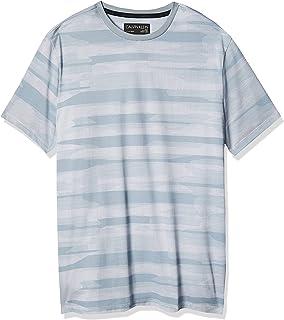 Men's Short Sleeve Crew Neck Liquid Jersey T-Shirt with Uv Protection