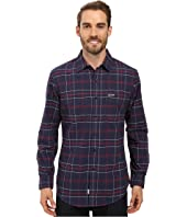 U.S. POLO ASSN. - Long Sleeve Plaid Oxford Cloth Straight Point Collar Sport Shirt