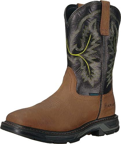 Ariat - Chaussures de Travail Western Workhog XT H2O Hommes, Hommes, 44 M EU, Tumbled Bark Dark Forest  expédition rapide à vous