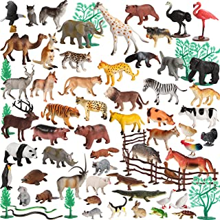 Migration 100Piece Set of Animals Figures & Accessories in Storage Container