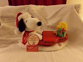 Hallmark Peanuts Swingin' with Snoopy and Woodstock Plush Interactive Holiday Display