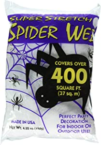 Fun World Super Stretch Spider Web 4.2 oz. For Indoor/Outdoor Use, Covers Over 400 sq . ft.