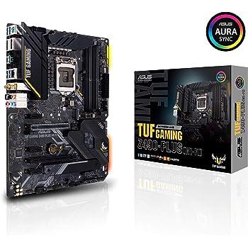ASUS TUF Gaming Z490-Plus (WiFi 6), LGA 1200 (Intel 10th Gen) ATX Gaming Motherboard (Dual M.2, 12+2 Power Stages, USB 3.2 Front Panel Type-C, Intel WiFi 6 & 1Gb LAN, Aura Sync)