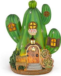 VP Home Enchanted Cactus Cottage Solar Powered LED Outdoor Decor Garden Light