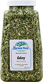 Harmony House Dehydrated Celery, Crosscut – Dried Vegetables for Cooking, Camping, Emergency Supply and More