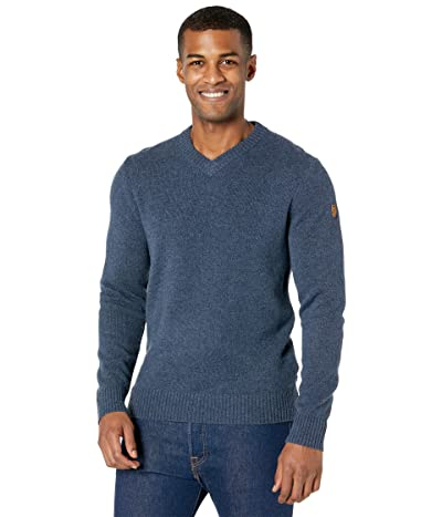 Fjallraven Ovik V-Neck Sweater (Navy) Men