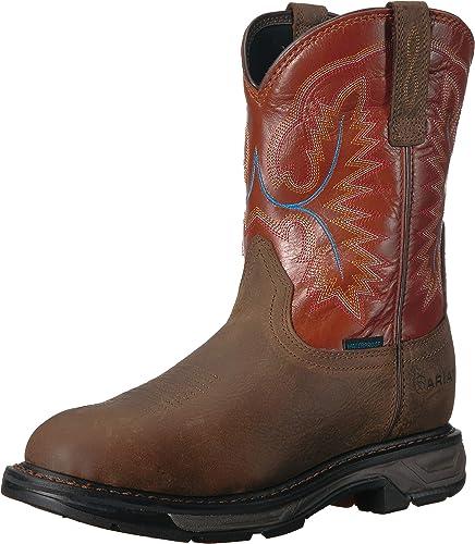 Ariat - Chaussures de Travail Travail Western Workhog XT H2O pour Hommes, 40 M EU, Rye marron Brick  contre authentique