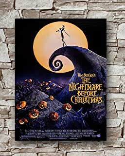 Huawuque The Nightmare Before Christmas Poster Standard Size | 18-Inches by 24-Inches |The Nightmare Before Christmas Posters Wall Poster Print