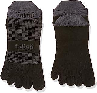 Calcetines bajos cinco dedo Injinji Midweight para correr de hombre - 203110GWH, XL, Negro/Gris