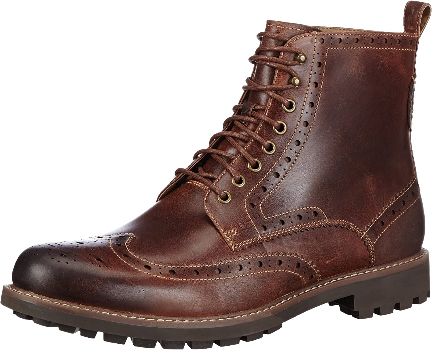 All stores are sold Clarks Men's Montacute Ranking TOP9 Lord Boots Dark Tan Brown Lea
