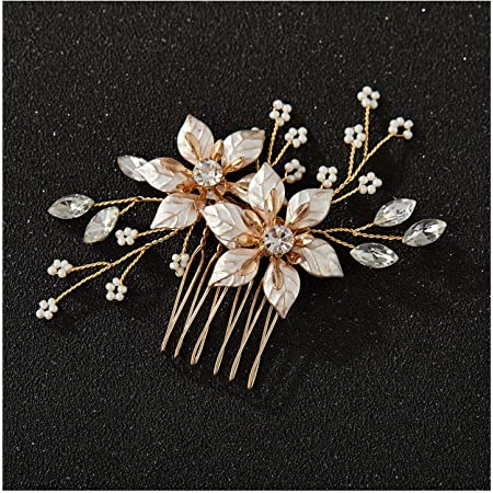 J Large Rhinestone Hair Comb Bridal Accessory Prom Christmas 2 available
