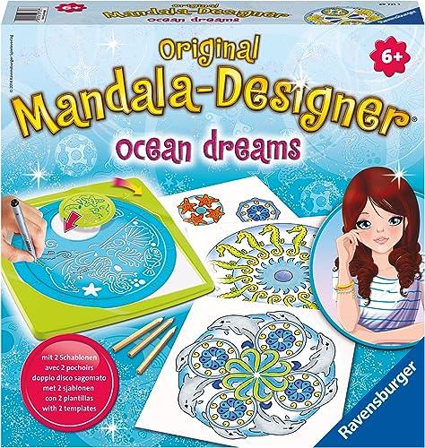 Ravensburger - 29731 - Loisir Créatif - Mandala Designer 2 en 1 - Ocean Dreams