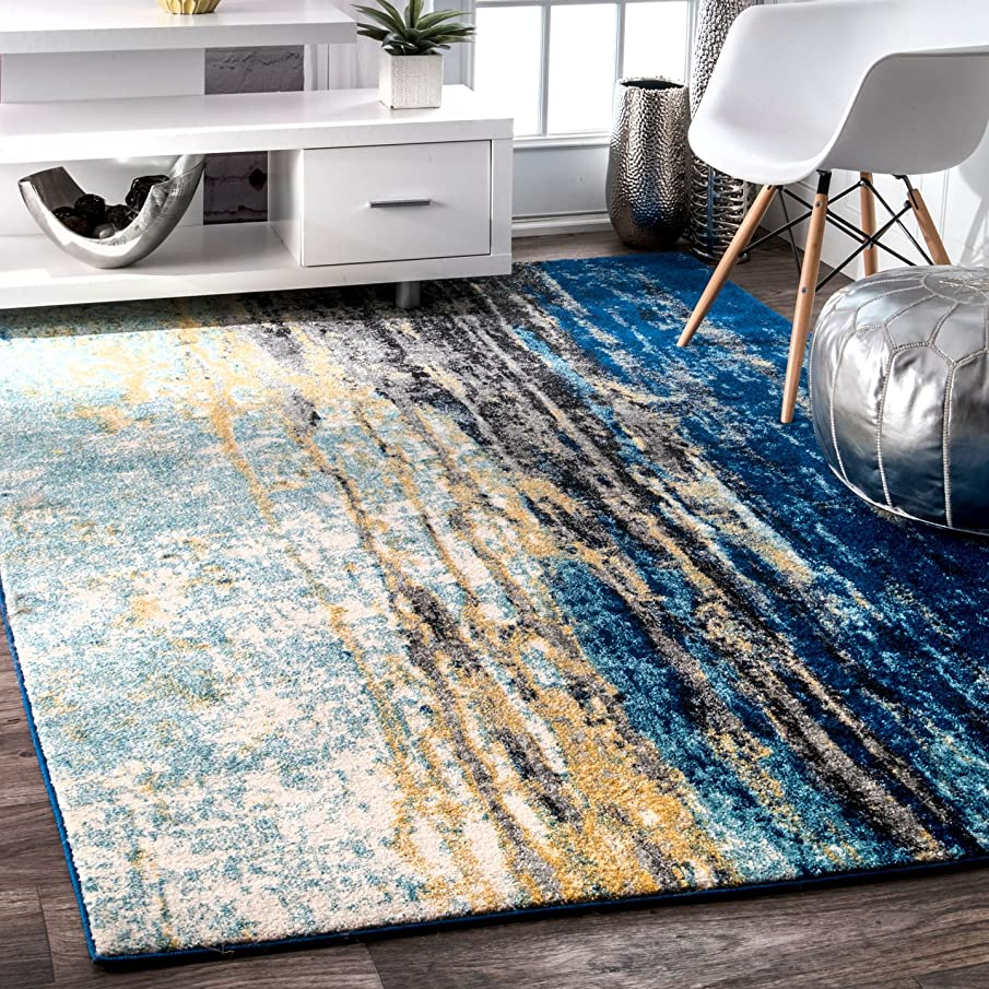 nuLOOM Contemporary Katharina Large Area Rug, 9' x 12', Blue