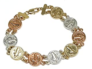 Gold Plated Saint Benedict Bracelet 7.5