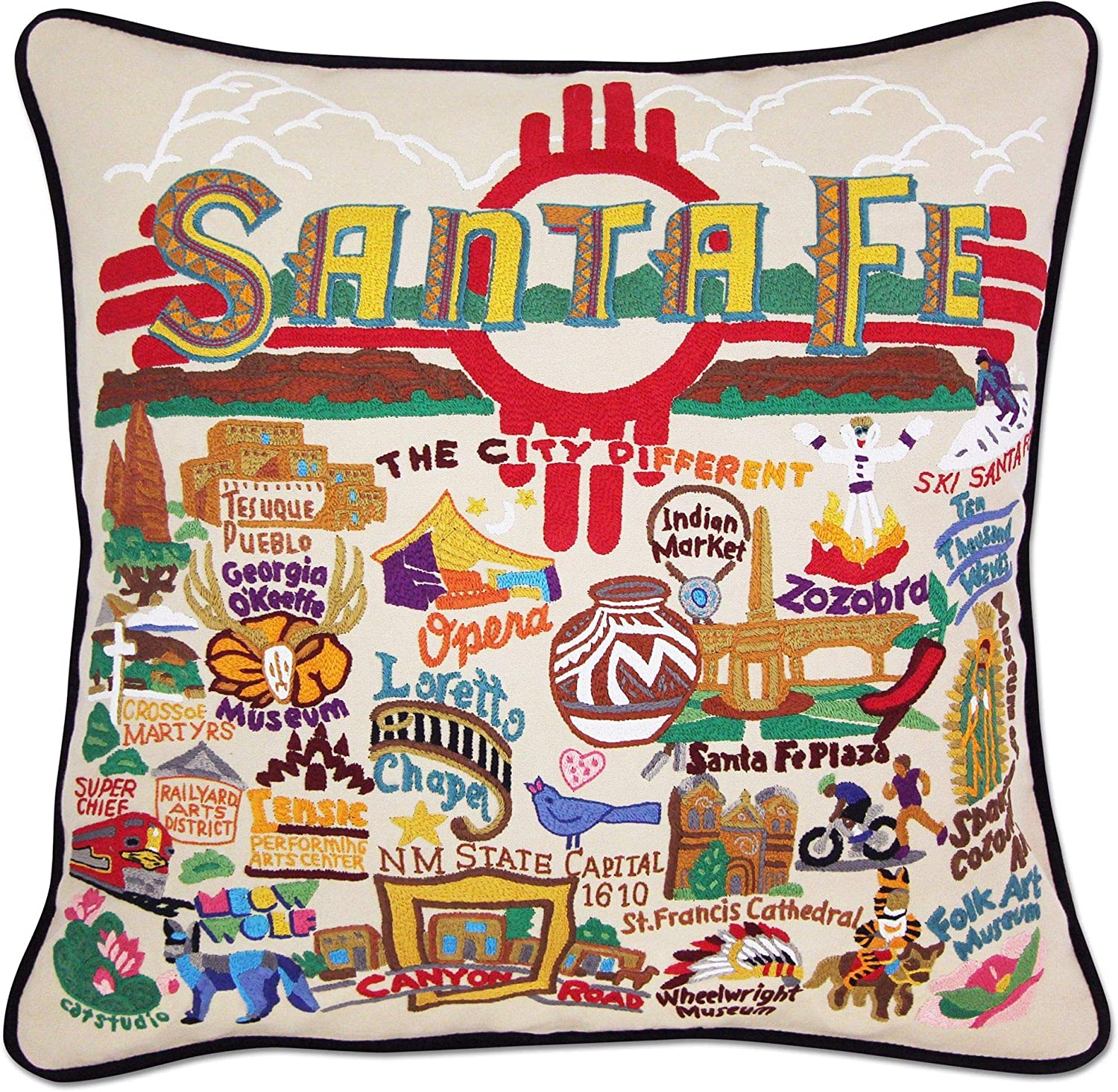 Japan's largest assortment Catstudio Santa Fe Colorado Springs Mall Embroidered Pillow Decorative Throw