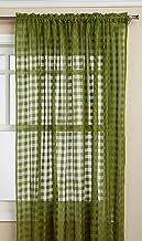 Editex Home Textiles Leana Window Collection, Green, Window Panel 56 x 84-inch