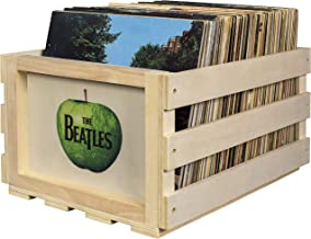 Crosley AC1004A-AP Record Storage Crate Holds up to 75 Albums, The Beatles Apple