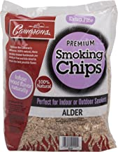 Camerons Products Smoking Chips - (Alder) 260 cu. in. (0.004m�) - Kiln Dried, Natural Extra Fine Wood Smoker Sawdust Shavings - 2 Pound Bag Barbecue Chips