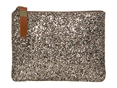 Madewell Leather Pouch Wallet in Glitter (Sahara Gold) Handbags
