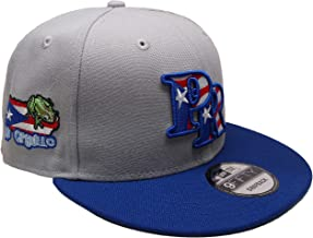 B62830000 570B6783000001 EN Puerto Rico New Era Custom 9Fifty Snapback Hat - Gray, Royal, White, Red