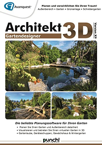 Architekt 3D X9 Gartendesigner - Fotorealistische Gartenplanung für Ihren PC! Windows 10|8|7|Vista 32-bit|XP [Download]