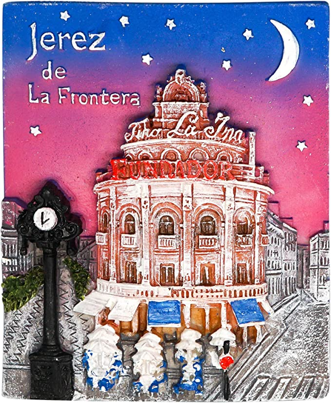 zamonji Jerez de la Frontera, Souvenir de España | 3D Imanes para Refrigerador Imán de Nevera de Resina | Recuerdos de Viaje: Amazon.es: Hogar