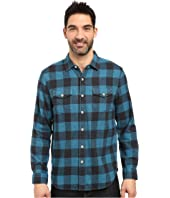 True Grit - Vintage Melange Buffalo Check Long Sleeve Two-Pocket Shirt
