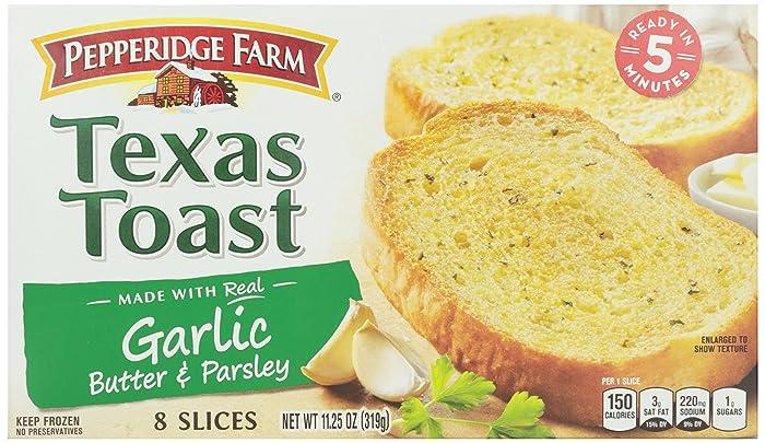 Pepperidge Farm, Texas Toast, Garlic, 8 slices, 11.25 oz (Frozen)