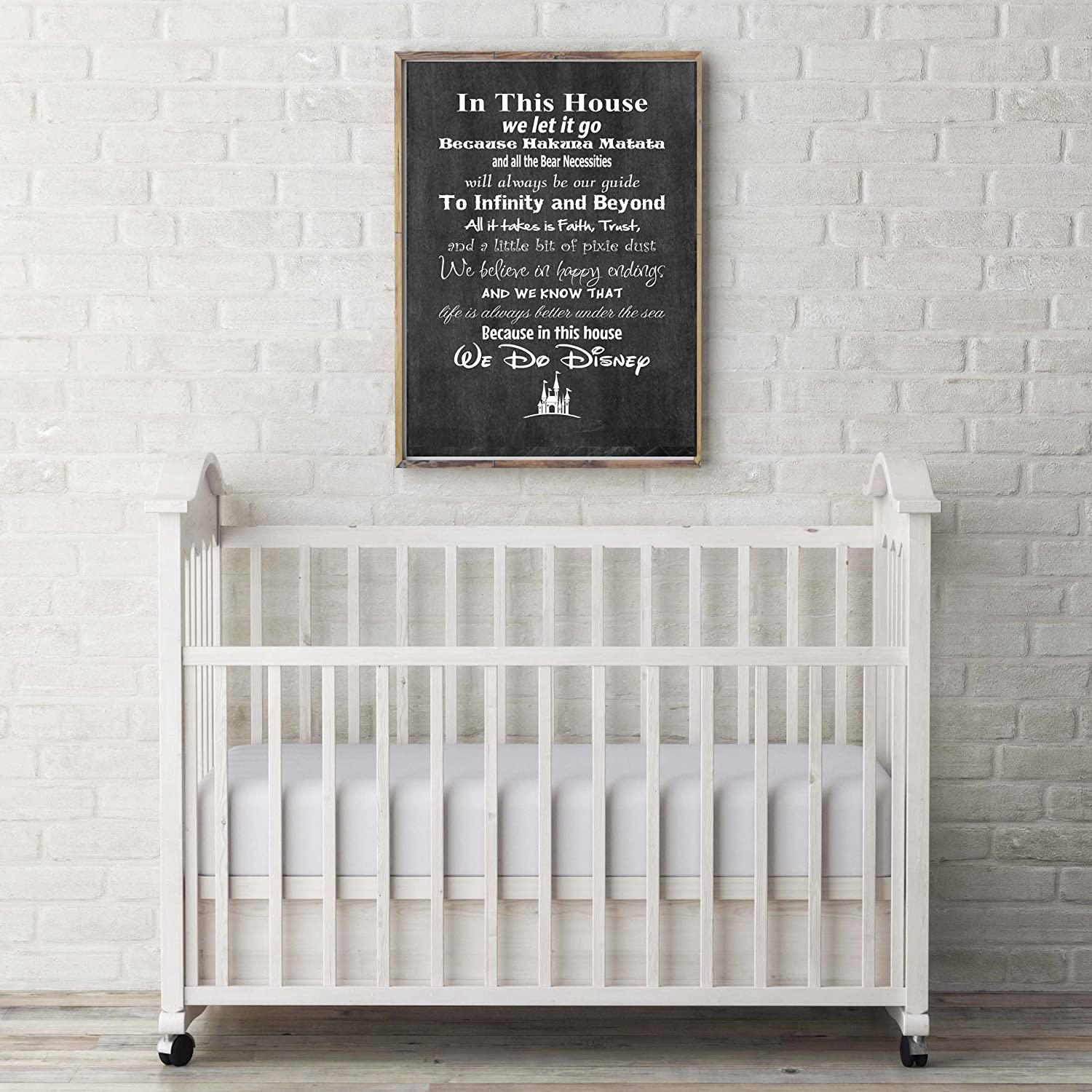 Frame not included In This House We Do Disney 8x10, Chalkboard Background Disney Family House Rules Poster Print Photo Quality Ready to Frame Made in USA