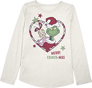 Girls 4-12 Christmas Grinchmas Heart Graphic Tee