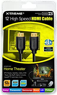 Xtreme 74112 12-FeetHigh Speed HDMI Cable