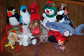 12 TY Beanie Babies Collection: New with tags: Early; Stripes; Sly; Daisy; Puffer; Spinney; Congo; Mel; Derby; Fortune; Ringo; Stinger set