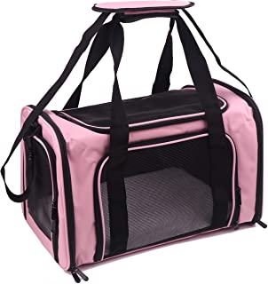 Petbuy Pet Carrier Bag for Dog Cat,Portable Pet Bag Folding Fabric Pet Travel Carrier Pet Cage for Small Dog,Collapsible P...