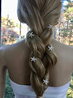 Bridal Art Deco Pins, Rhinestone Beach Wedding Hair Accessory