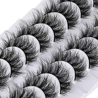 Lanflower 5D Mink Lashes Wispy Fluffy 20MM Long Crisscross False Eyelashes 10 Pairs Pack Fluttery Silk Volume Fake Eye Lashes